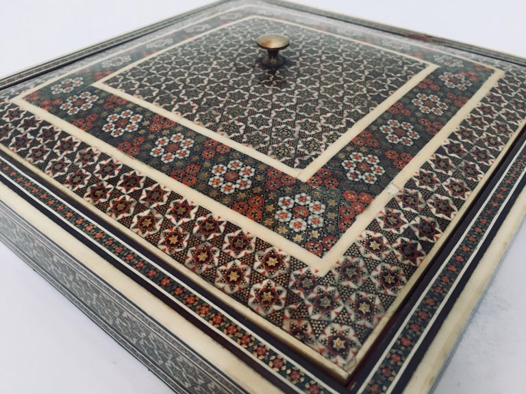 Persian Micro Mosaic Inlaid Jewelry Box For Sale 6