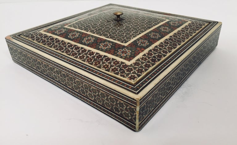 Persian Micro Mosaic Inlaid Jewelry Box For Sale 7