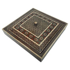 Persian Micro Mosaic Inlaid Jewelry Box