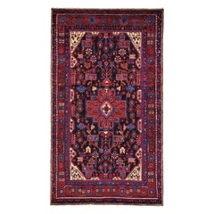 Persian Nahavand Hand Knotted 100 Percent Wool Oriental Rug