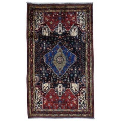 Persian Nahavand Hand Knotted Pure Wool Wide Runner Rug