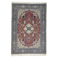 Persian Nain 250 Kpsi Wool and Silk Hand Knotted Oriental Rug