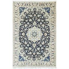"""Persian Nain Carpet, woo & Silk, 5'2"""" x 8'"""