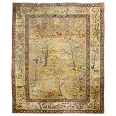 Persian Pictorial Animal Landscape Rug
