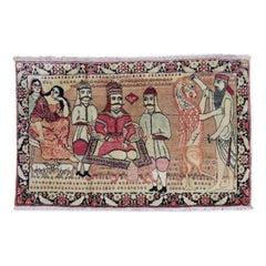 Persian Pictorial Lavar Kerman Rug