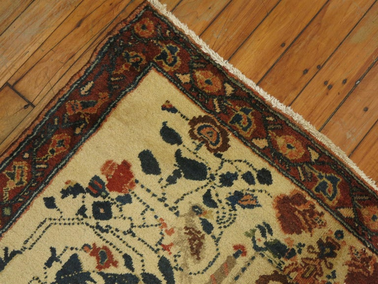 Folk Art Persian Pictorial Rug with Hebrew Inscription For Sale