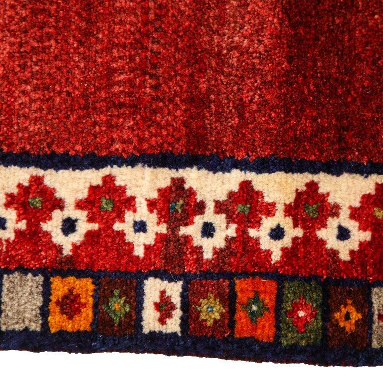 Persian Qashqai Kashkooli Lion Animal Carpet circa 1940 in Handspun Wool For Sale 4