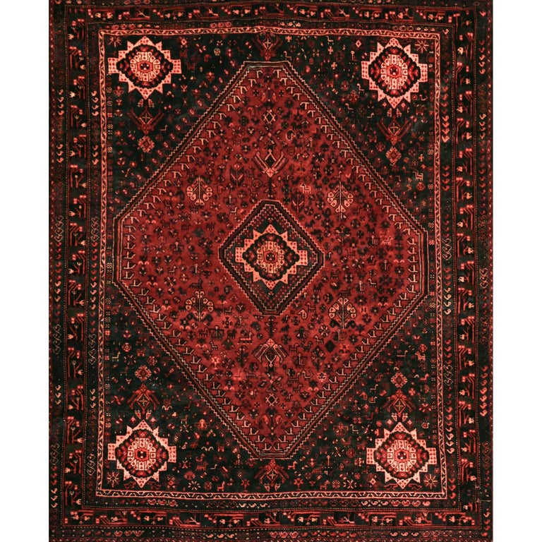 Qashqai Shiraz Rug: Persian Qashqai Shiraz Carpet At 1stdibs