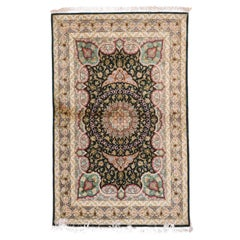 Persian Qum Rug Silk on Silk Hand Knotted