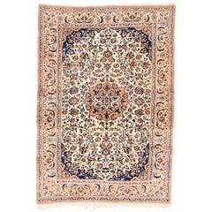 Fine Vintage Persian Naeen Area Rug