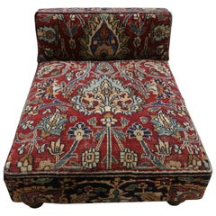 Low Profile Slipper Chair or Persian Rug Pet Bed from Antique Dorokhash Rug
