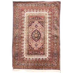 Persian Rug, Qum Silk on Silk, Hand Knotted