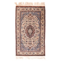 Persian Rug Qum Silk on Silk Hand Knotted