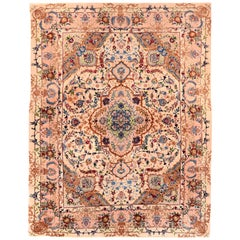Persian Rug Tabriz Hand Knotted, circa 1970s