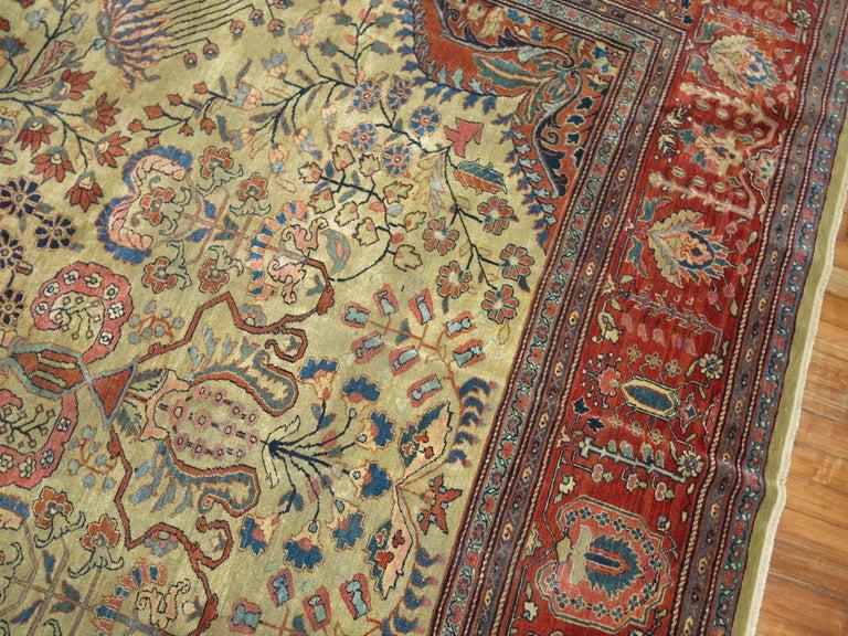 Hand-Woven Persian Sarouk Fereghan Rug For Sale