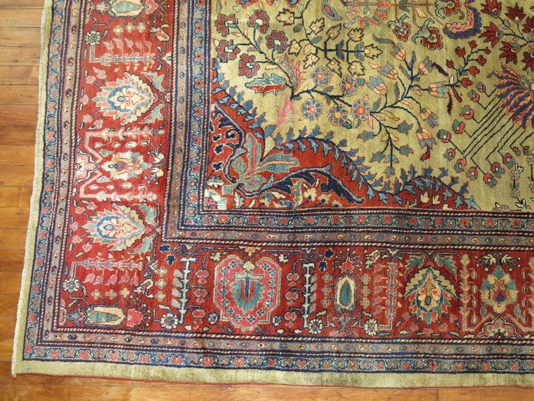 Wool Persian Sarouk Fereghan Rug For Sale