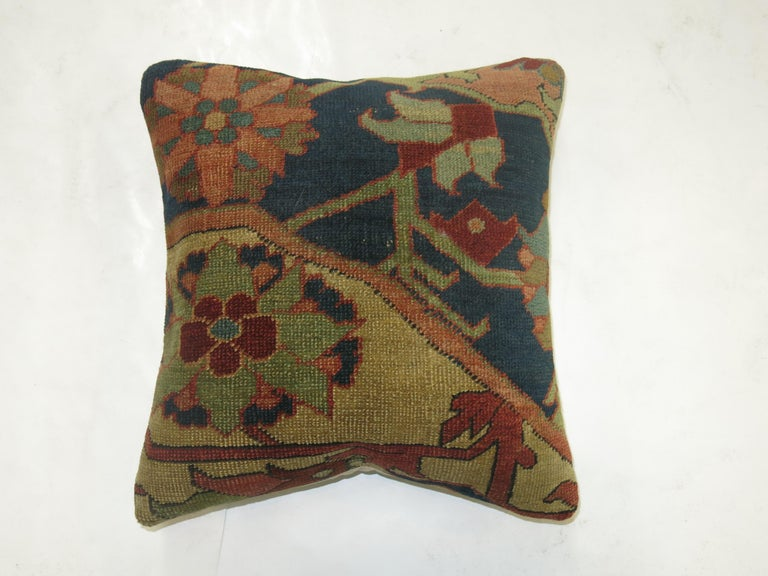 Persian Serapi Rug Pillow In Excellent Condition For Sale In New York, NY
