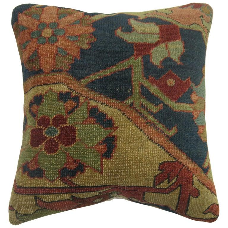 Persian Serapi Rug Pillow For Sale
