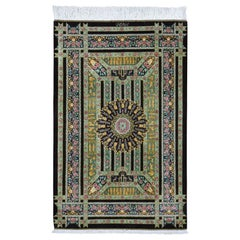 Persian, Signed Silk Qum, 600 KPSI, The Kingdom, Hand Knotted Oriental Rug