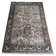 Persian Silk Rug Qum, Persia, 1950
