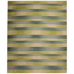Persian Style Rugs, Handmade Flat-Weave Zebra Kilims, Modern Striped Kilim Rugs