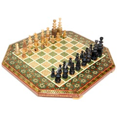Middle Eastern Micro Mosaic Octagonal Chess Game