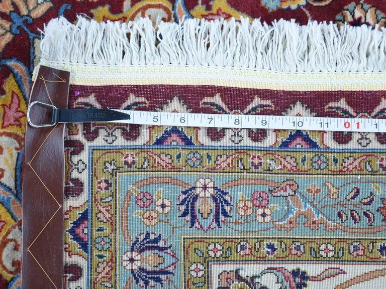 Persian Tabriz 400 Kpsi Wool and Silk Handmade Oriental Rug For Sale 6