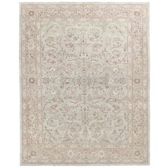 Persian Tabriz Hand Knotted Rug in Camel Colors