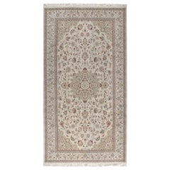 Persian Tabriz Rug in Wool and Silk