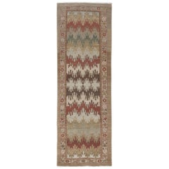 Persian Traditional Bakshaish Hand Knotted Runner in Multi-Colors