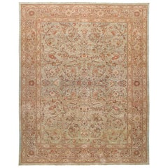 Persian Traditional Tabriz Hand Knotted Rug in Blue Colors