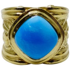 Persian Turquoise 18k Gold Cocktail Ring