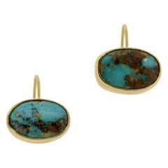 Persian Turquoise Gold Earrings