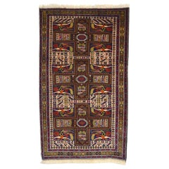 Persian Zabol Carpet circa 1940 in Handspun Wool and Vegetal Dyes