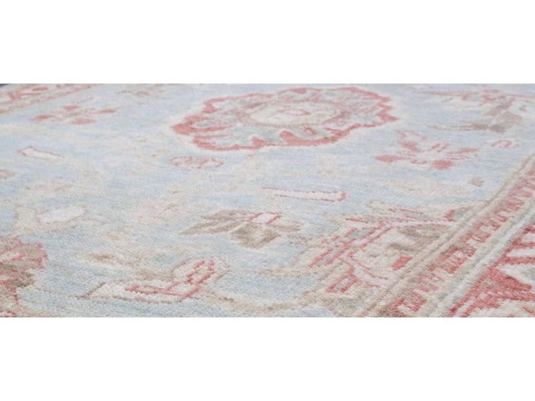 Hand-Knotted Persian Ziegler Sultanabad Rug Runner For Sale