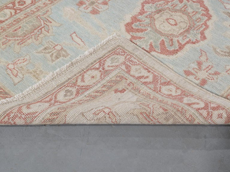 Contemporary Persian Ziegler Sultanabad Rug Runner For Sale