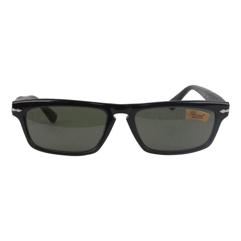 PERSOL RATTI Vintage Black Rare Sunglasses PP507 56-17mm New Old Stock
