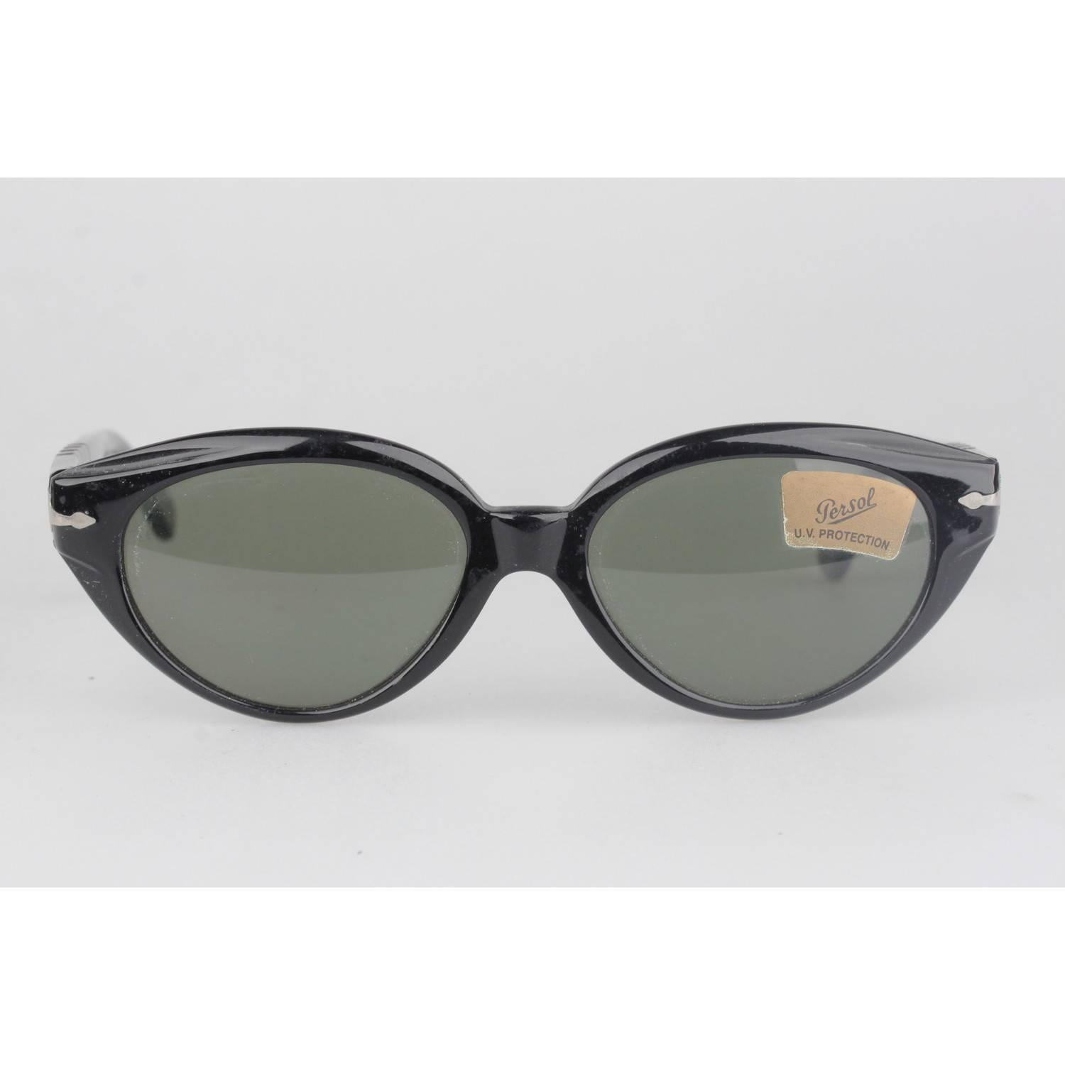 7843c6c76e PERSOL RATTI Vintage Black Sunglasses CAROL 853 54-16mm New Old Stock For  Sale at 1stdibs
