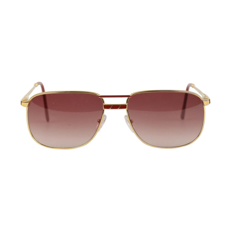 0ccabcadbb09f Persol Ratti Vintage Gold Unisex Sunglasses Mod. Austin Made in Italy For  Sale