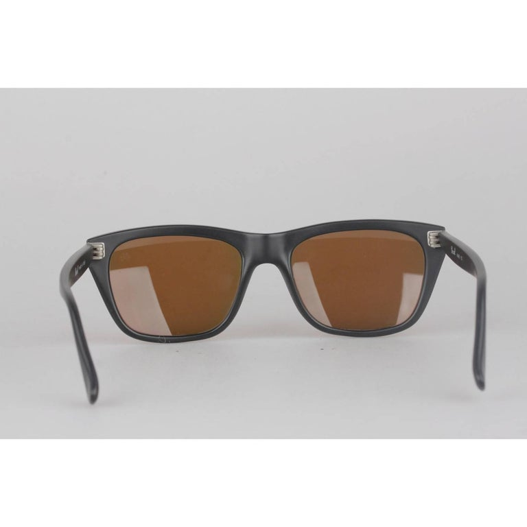 3ad147b7d1 Persol Vintage Black Matte 56mm Unisex Sunglasses 40401 02 In New Condition  For Sale In Rome