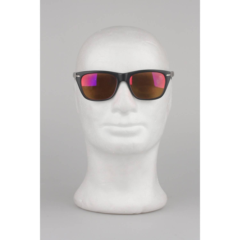 eb7e1529e3 Persol Vintage Black Matte 56mm Unisex Sunglasses 40401 02 For Sale at  1stdibs