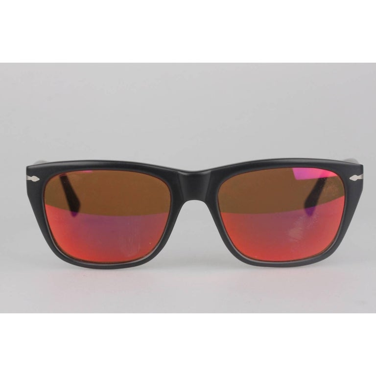 05b8d3862f Persol Vintage Black Matte 56mm Unisex Sunglasses 40401 02 For Sale ...