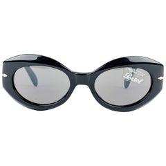 Persol Vintage Mint Black Acetate Sunglasses 2549-S 50/19 135 mm