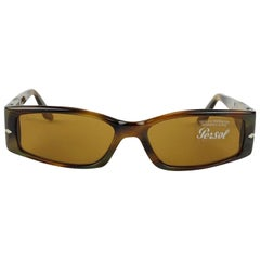 Persol Vintage Mint Brown Rectangle Sunglasses 2725-S 52/15 135 mm
