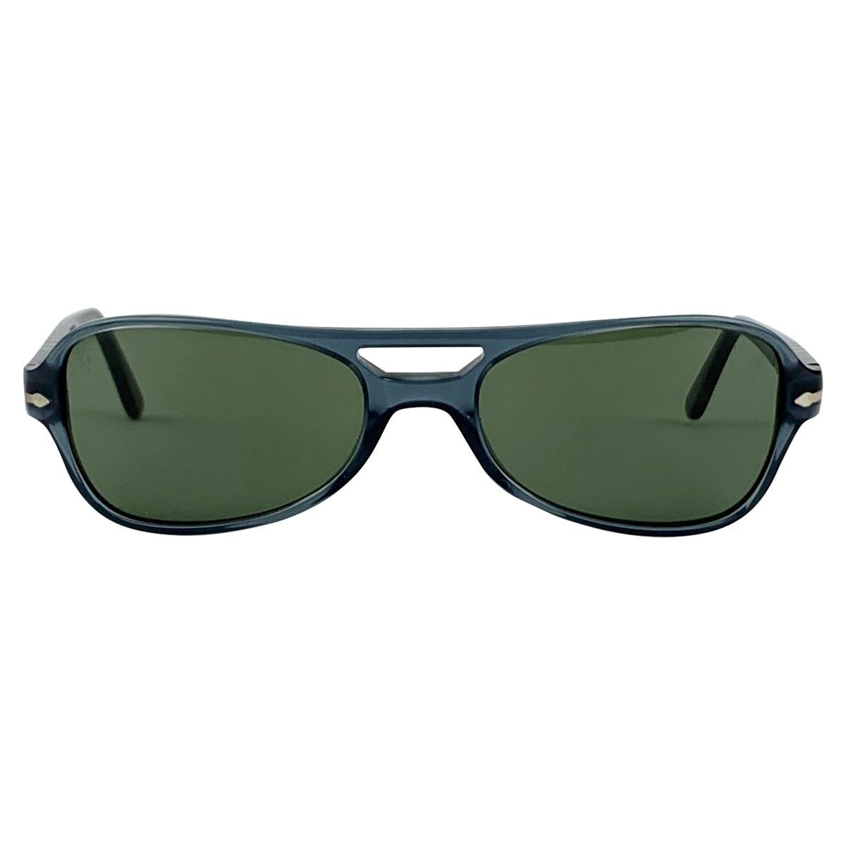 Persol Vintage Mint Grey Aviator Sunglasses 2628-S 55/18 135 mm