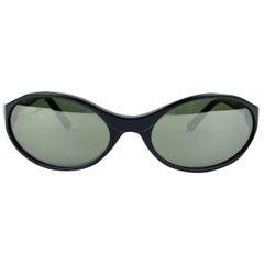Persol Vintage Mint Oval Black 2505-S Sunglasses 56/19 130 mm
