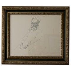 Personaje Sentado / Tinta / Painting / José Luis Cuevas
