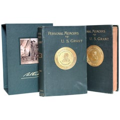 Personal Memoirs of U.S. Grant, First Edition, Two-Volume Set, circa 1885-1886