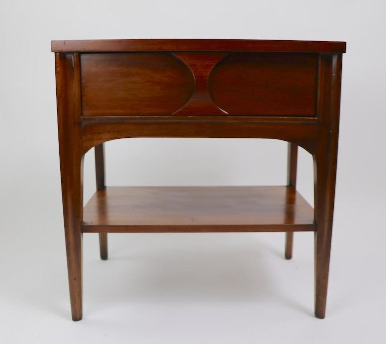 Mid-Century Modern Perspecta Nightstand by Kent Coffey For Sale