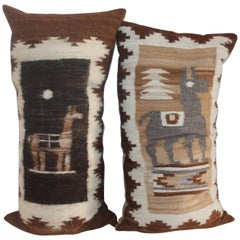 Peruvian Hand Woven Weaving Pillows / Pair
